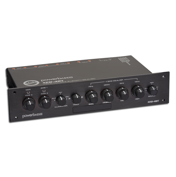 XEQ-4BT 4 Band, 3 Zone, Bluetooth Power Sports Equalizer